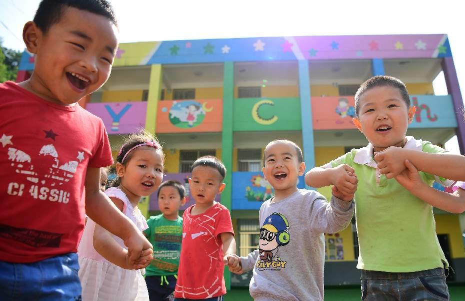▲陕西省安康市汉滨区双龙镇杜坝村的五四小学附设幼儿园。  图/新华社