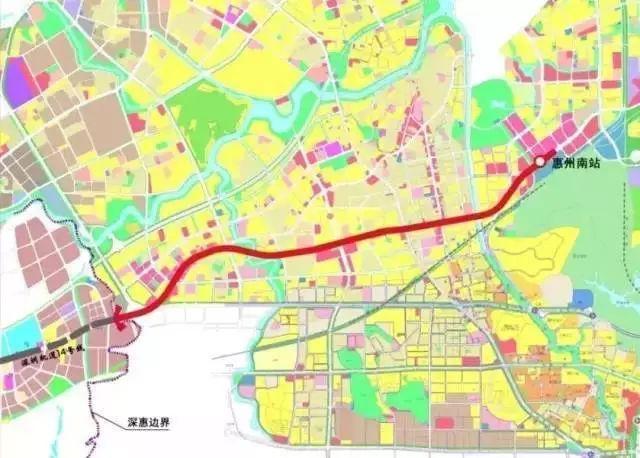 深圳地铁14号线延长线(惠州段)线路规划草图-给力 深圳地铁14号线图片