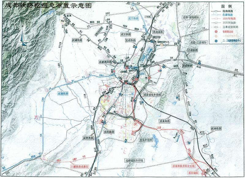 新建十陵站 成都至三台城际 成都这份铁路规划信息量巨大