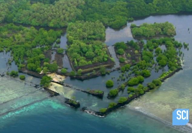 太平洋现神秘古城兰马多影像 被视为工程奇迹