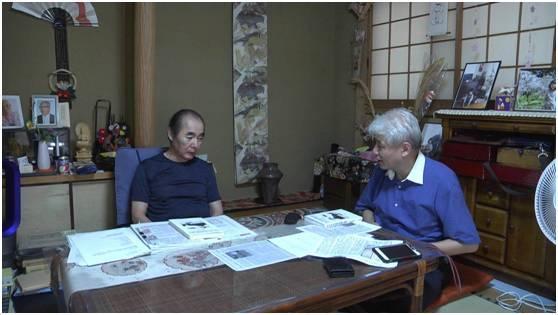 久保井规夫接受蒋丰采访。