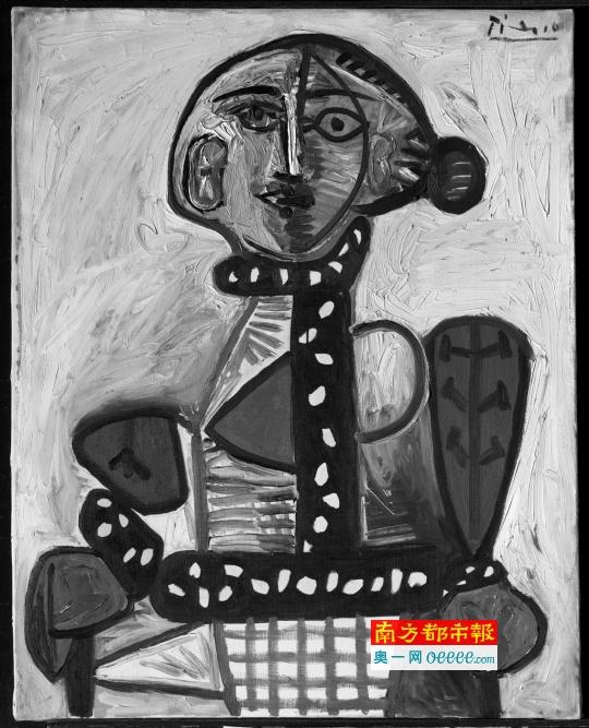 毕加索《盘发髻的女人》。