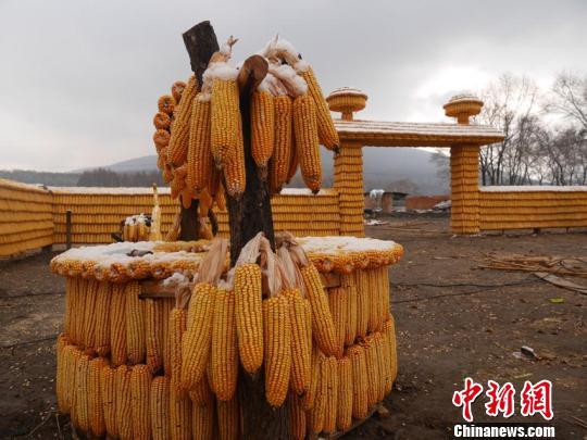 院内的所有设施都是用玉米搭建而成 苍雁 摄