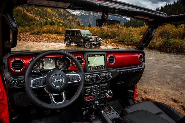 新款Jeep牧马人内饰官图发布 月底洛杉矶车展首秀