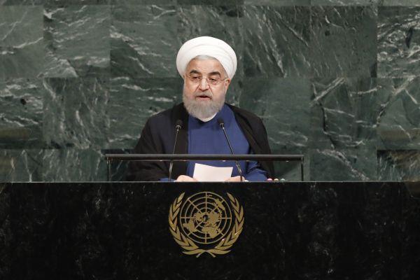 资料图:伊朗总统鲁哈尼。新华社记者李木子摄