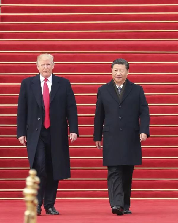 ▲11月9日,国家主席习近平在北京人民大会堂东门外广场举行欢迎仪式,欢迎美利坚合众国总统唐纳德·特朗普对中国进行国事访问。