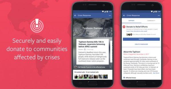 提供救济!Facebook增加危机捐助按钮帮助灾民