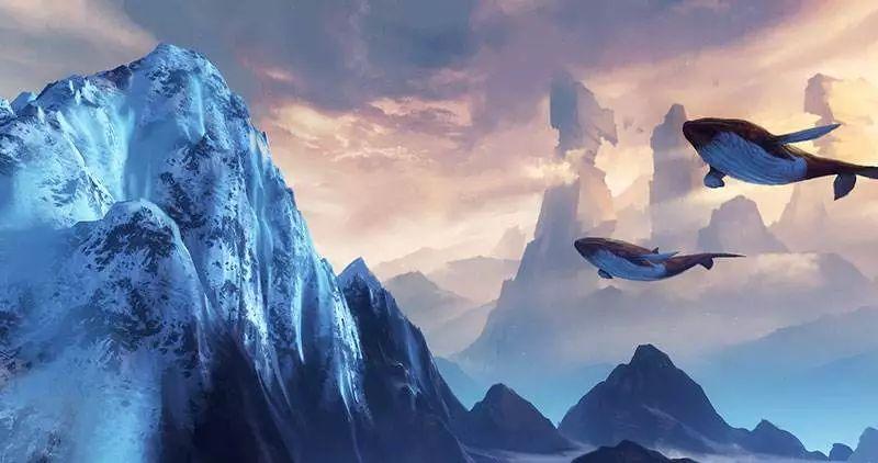 """▲某款网游里的北溟场景。庄子《逍遥游》有云""""北溟有鱼,其名为鲲""""。"""