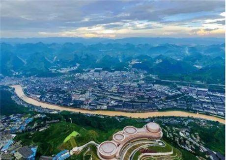 航拍茅台镇。视觉中国