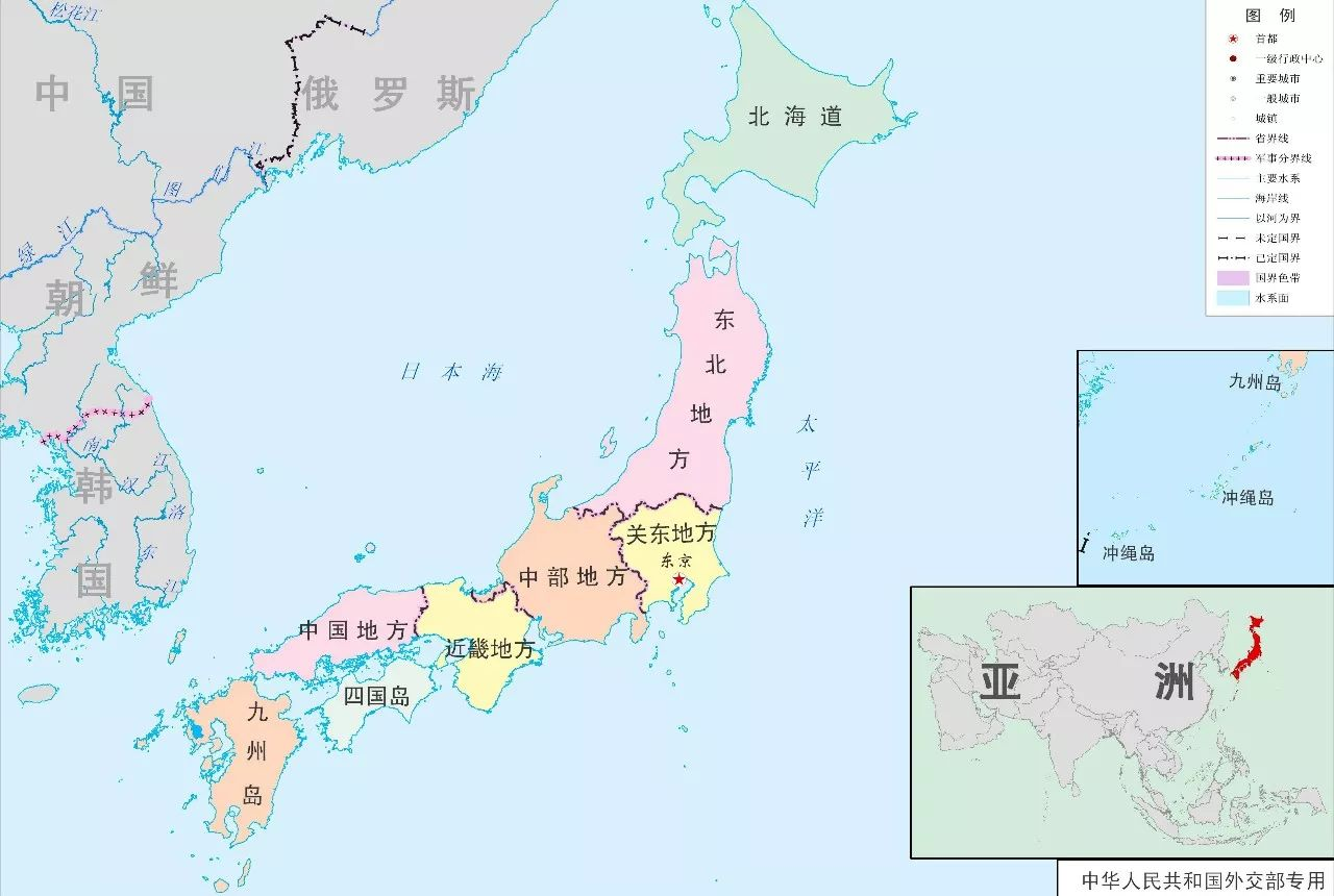 ▲日本地理位置示意图