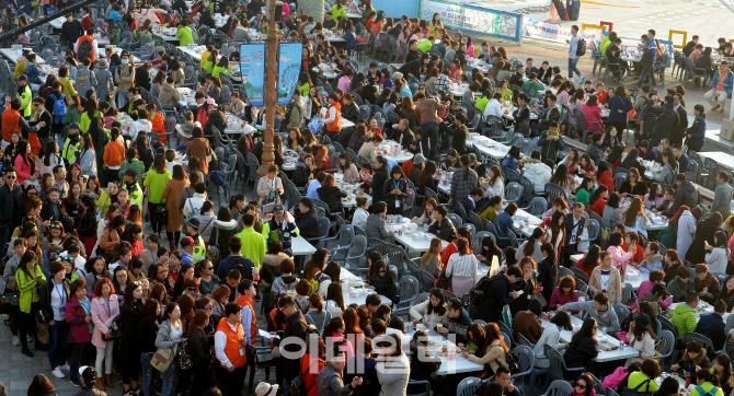"""2016年,中国某企业组织4500名游客赴韩参加""""炸鸡啤酒派对"""""""
