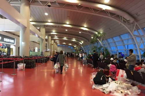 济州机场国际航班候机大厅