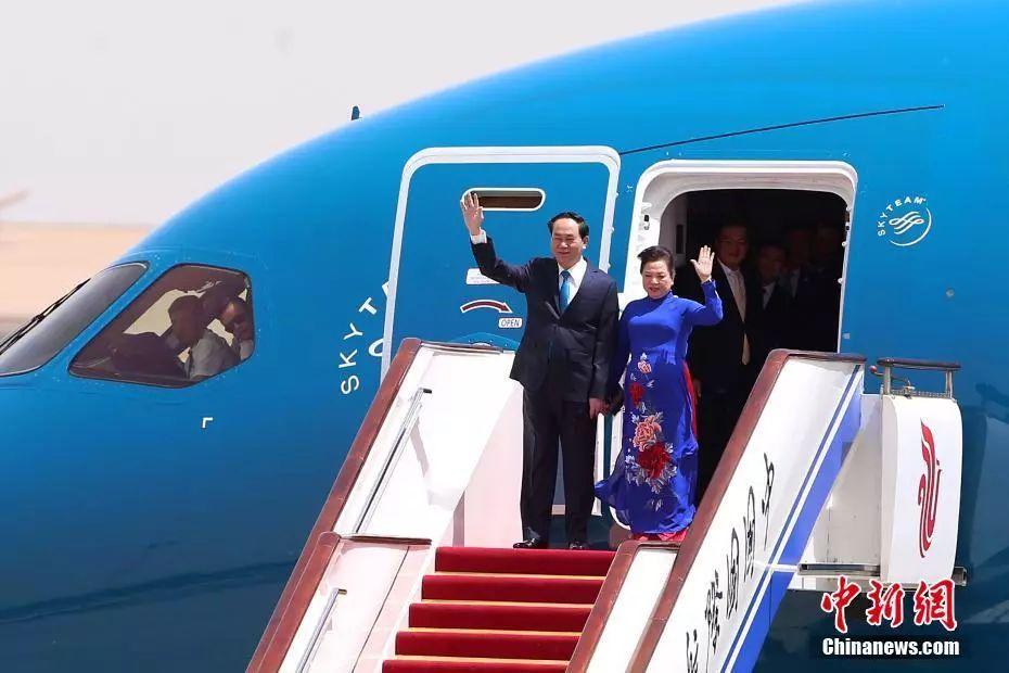 ▲资料图片:5月11日,越南国家主席陈大光乘坐专机抵达北京首都国际机场,对中国进行国事访问。