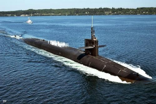 图为美国海军俄亥俄级战略核潜艇