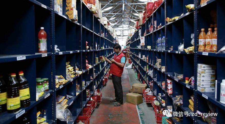 杂货电商的仓库(图片来自:路透社/丹麦西迪基)
