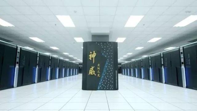 """中国超级计算机——""""神威太湖之光""""。"""