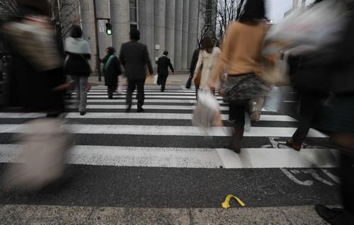资料图片:日本东京街头。新华社发