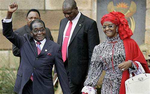 穆加贝及其妻子