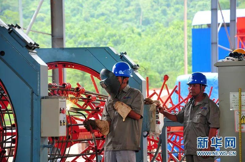 ▲资料图片:中老铁路建设改变老挝面目。