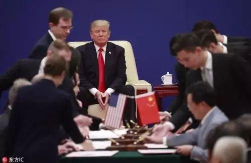 ▲在特朗普访华期间,中美两国达成的经贸合作订单金额达到2535亿美元。