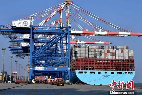 图为繁忙的厦门集装箱码头。(资料图片) 中新社记者 王东明 摄