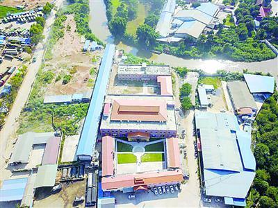从空中俯瞰的缅甸赌场 /警方供图