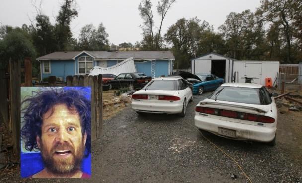 警方在枪手尼尔(小图)的寓所,发现其妻的尸体。