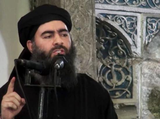 """图为极端组织""""伊斯兰国""""头目巴格达迪正在演讲"""