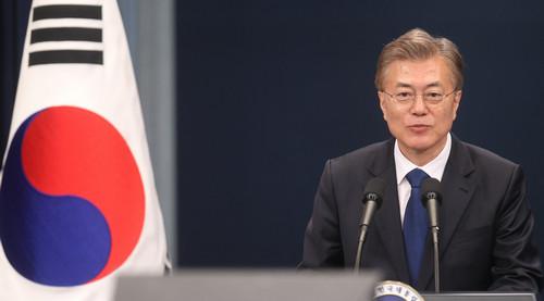 资料图片:韩国总统文在寅。新华社记者 姚琪琳 摄