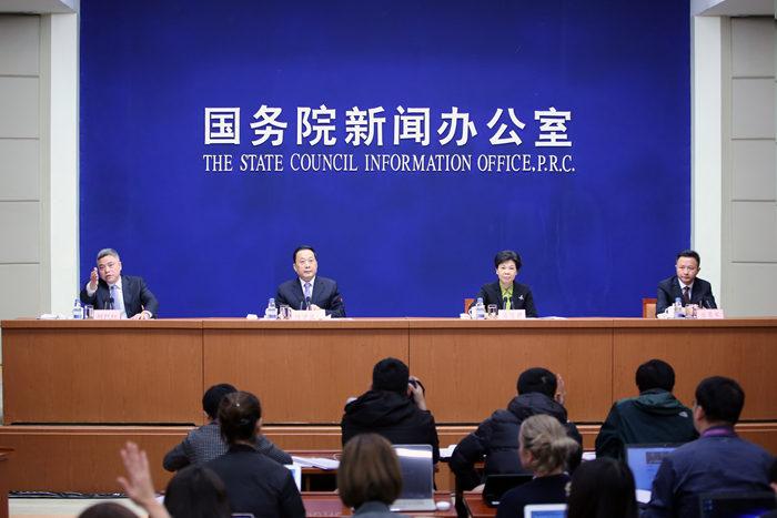 国务院新闻办公室就第四届天下互联网大会有关情形及筹备事情希望举行公布会。 中国网信网 李旭 摄