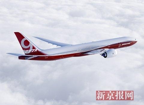 波音首架777x型双通道宽体飞机开始组装