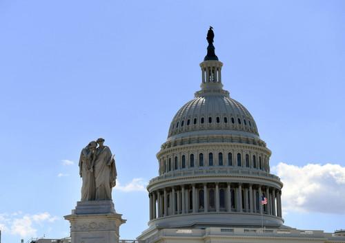 资料图片:这是6月27日在华盛顿拍摄的美国国会大厦。新华社记者 殷博古 摄