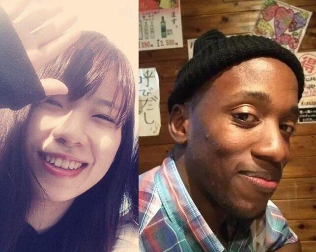 被害少女岛袋里奈(左)和凶犯辛扎托