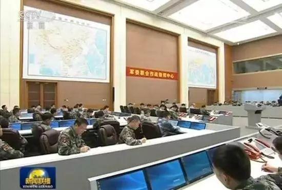 中国军委团结作战指挥中央内景
