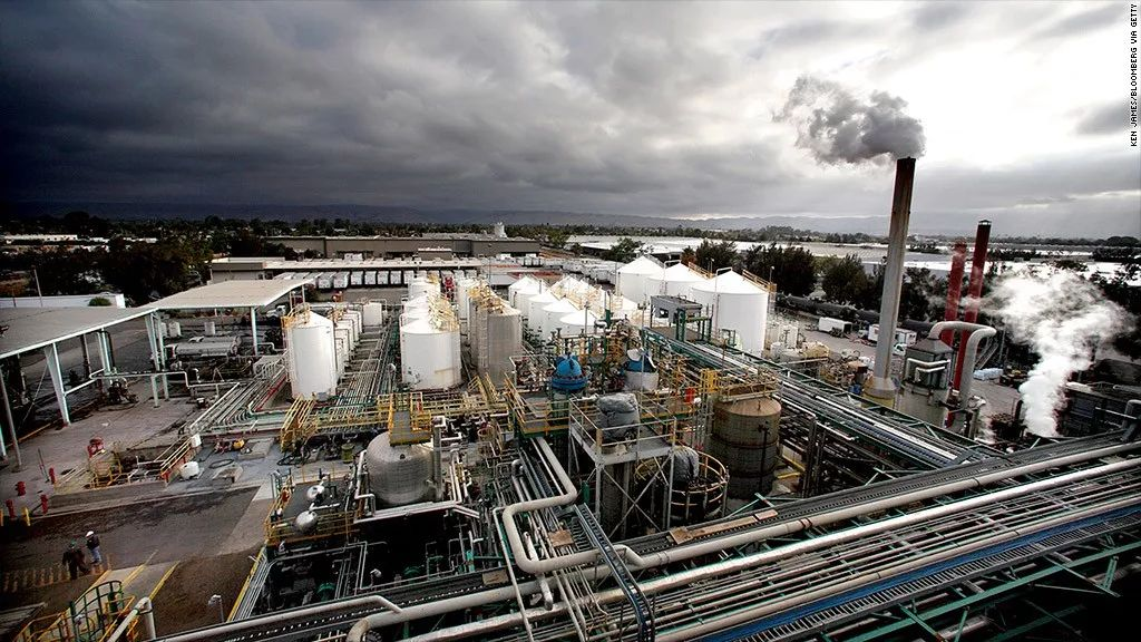 ▲美国自然气工厂(CNN)