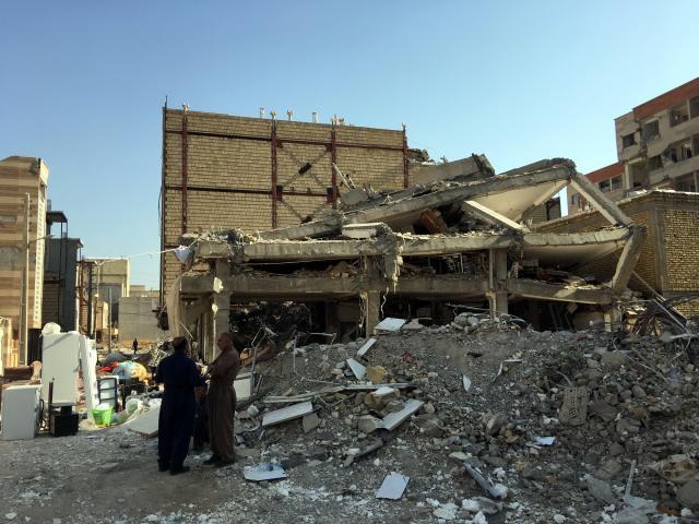 坚持,救援仍在进行——直击伊朗地震重灾区