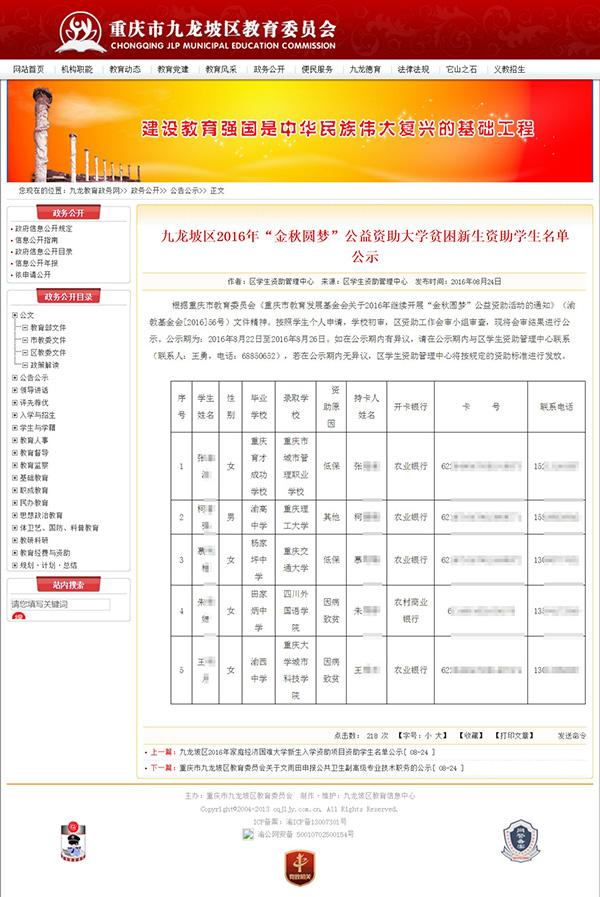 庆九龙坡区教养委官网泄露上仟老教养员团弄体信息,
