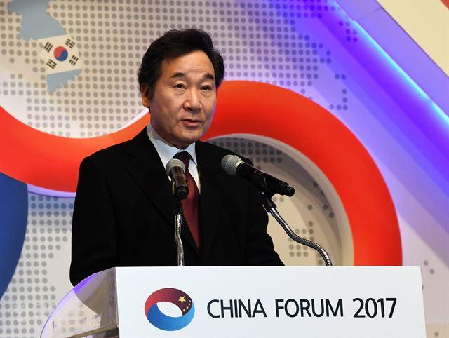 图注:韩国国务总理李洛渊