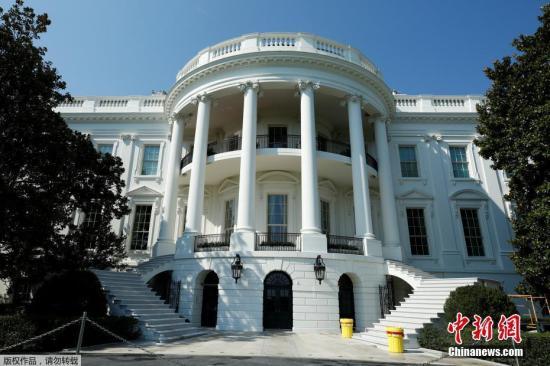 白宫南骑楼拱廊。