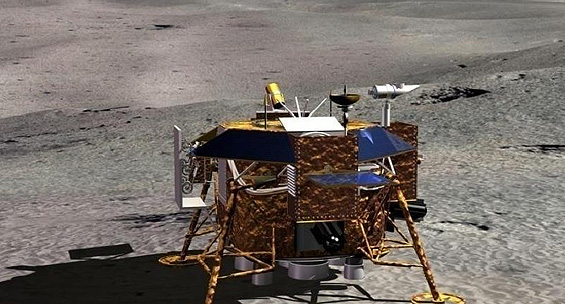 ▲嫦娥三号月球车示意图