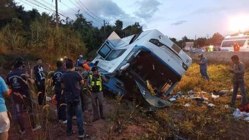 事故现场。(图片来源:泰国《世界日报》)