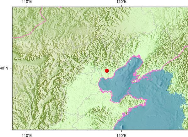 8月10日18时24分河北唐山市古冶区发生2.3级地震