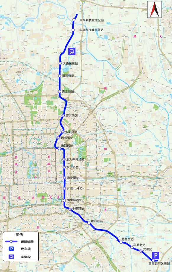 北京地铁17号线门路图。北京市重大项目办供图