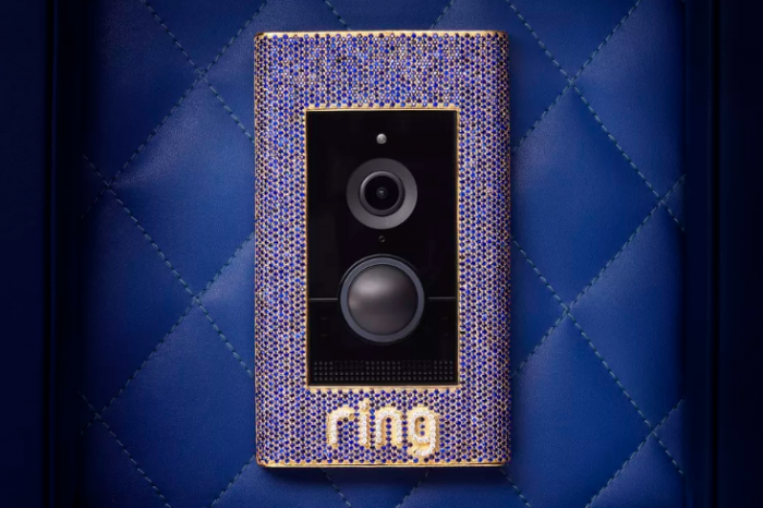Ring全新门铃镶有蓝宝石、钻石和黄金_售价高达10万刀