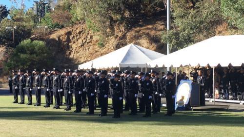 38名新警员毕业。(美国《世界日报》记者王若然/摄影)