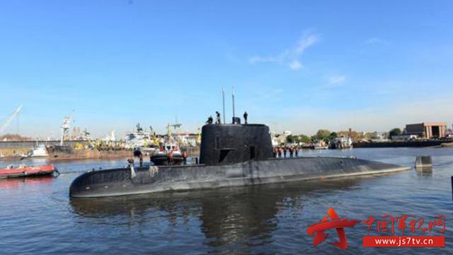 """资料图:2017年11月20日消息,一艘载有44名船员的阿根廷海军潜艇""""圣胡安号"""",自上周三(15日)与国防部失联后,时隔3日,当局在18日中午收到潜艇发出的求救讯号。"""