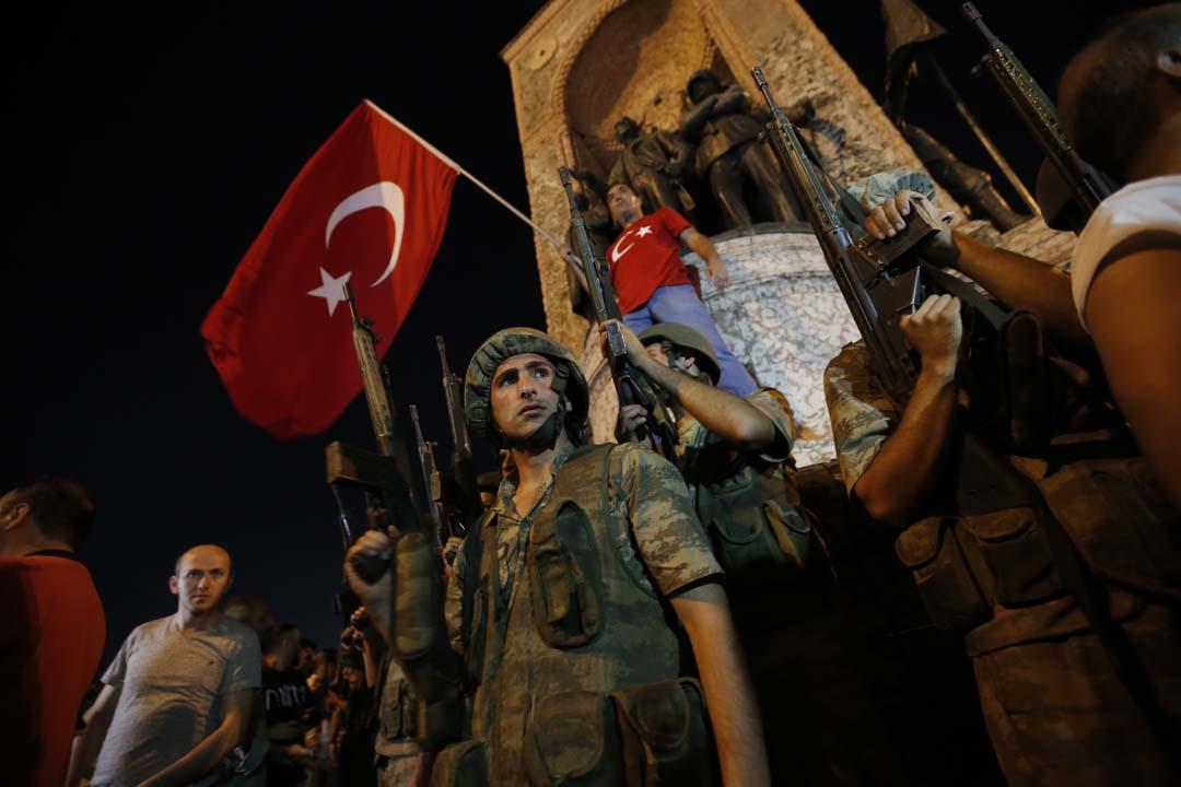 图为土耳其政变未遂事件资料图
