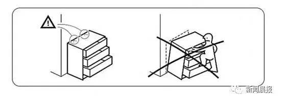 ▲为安全起见,应将抽屉柜固定在墙上