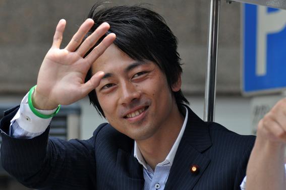 资料图:日本前首相小泉纯一郎之子小泉进次郎
