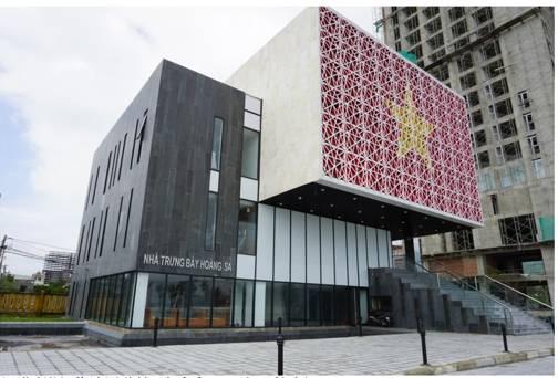 """岘港所谓""""黄沙展览馆""""尚未完工。白云怡摄"""